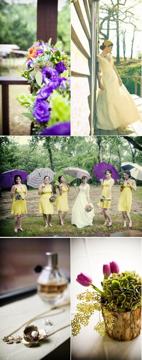 roxo e amarelo